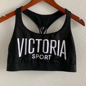 Victoria Sport Black Strappy Back Sports Bra | L